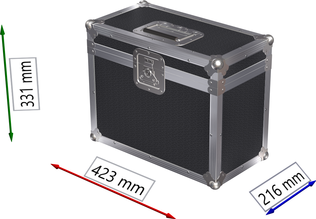 FLIGHTCASE PER 2 MINI TESTE MOBILI