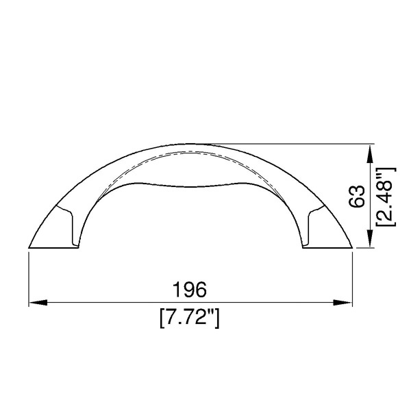 Maniglia model curved