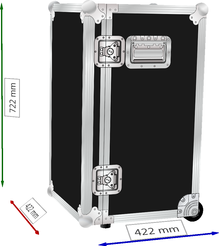 FLIGHTCASE PROFESSIONAL BAULETTO TROLLEY