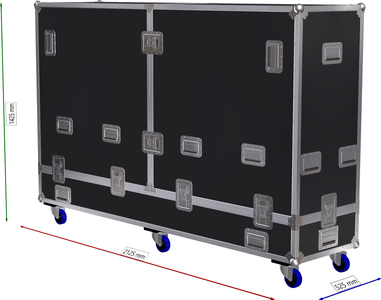 FLIGHTCASE PROFESSIONAL PER SMART TV 88""